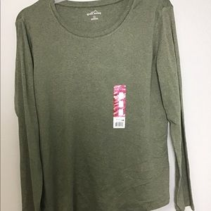 Eddie Bauer Green Long Sleeve(XL)